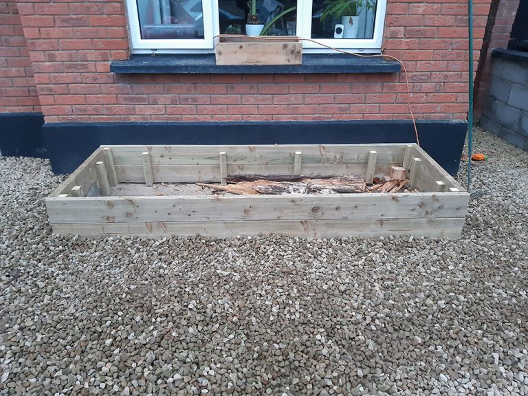 Building a raised bed - edges