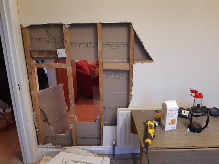 The cost of renovating an investment property in Ireland - Removing a stud wall
