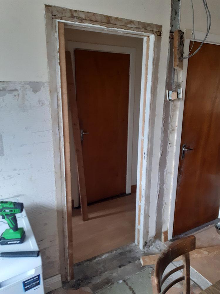 Sealing up a door