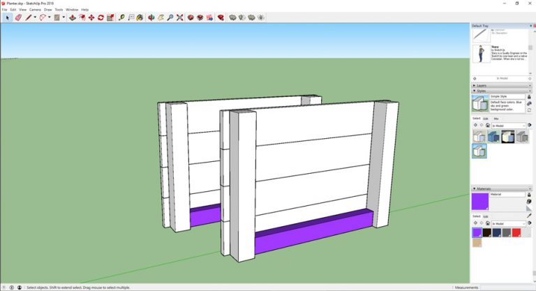 sketchup pallet wood planter-base runners